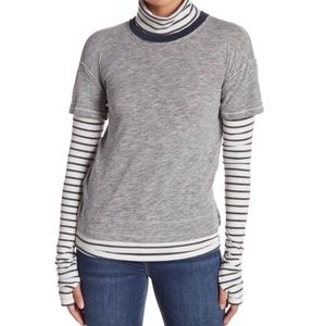 Free People | Layered Gray Cowl Top